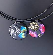 collier fimo technique
